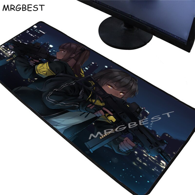 MRGBEST Hot Anime Custom HD Large Gaming Mouse Pad Black Lockedge Girls Frontline Computer Table Mat Speed Rubber Non-slip Xxl L enlarge