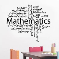 mathematics math formula school classroom wall stickers vinyl home decor for teenager room bedroom decals removable mural s137