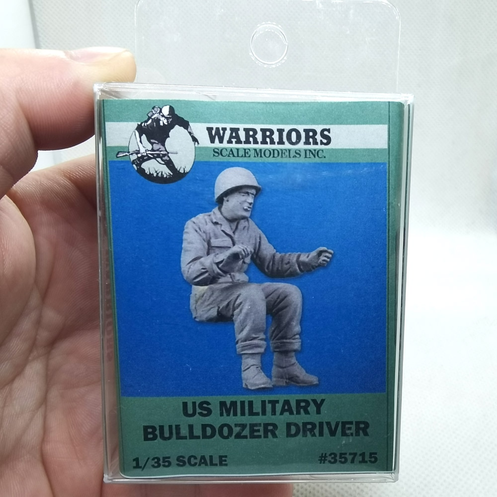 1/35 Scale US Military Bulldozer Driver Warriors #35715 Resin Model Unassembled Uncolored Wholesale Drop Shipping