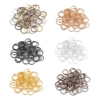 ciseng 200pcslot 4mm metal jump rings silvergoldbronze color split rings connectors for diy jewelry finding making