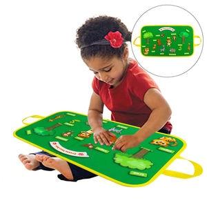 Zoo Felt Board Story Set for Toddlers Flannel Preschool Learning Board Gifts