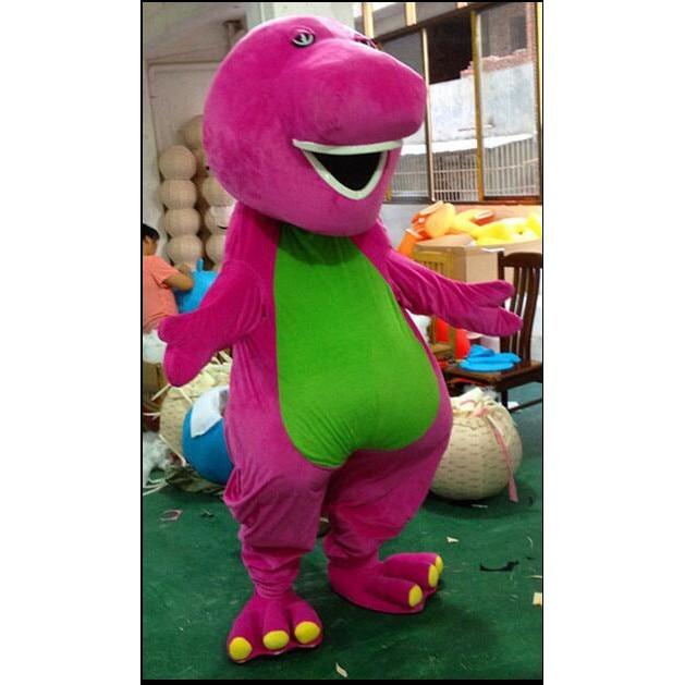 Barney Mascot Costume Barney Cartoon Mascot Costumes on Adult Size Theme Origin Department Name 2019 sell like hot professional easter bunny mascot costumes rabbit and bugs bunny adult mascot for sale