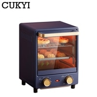 CUKYI 12L Household Electric Baking Oven Mini Vertical oven Intelligent Pizza Dessert Cake Maker 60min Timing Baking Tools 220V