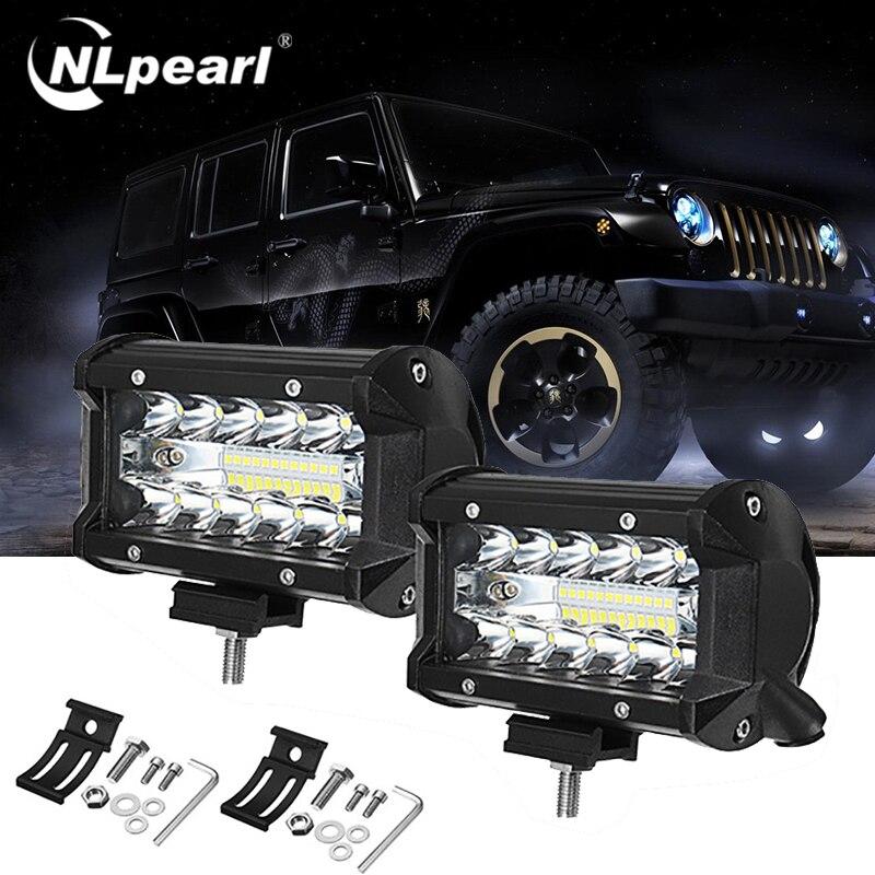 Nlpearl barre lumineuse/lumière de travail 72W barre de lumière Led 12V faisceau de voiture lumière hors route Led poutres pour tracteur projecteur 4x4 SUV ATV