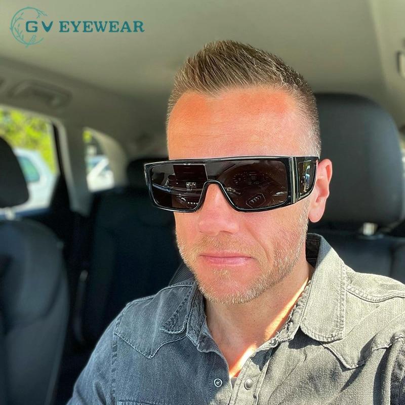 Women And Men's Fashion Sunglasses Oversized Shield Frame Plastic Eyewear Ladies Luxury Designs UV40