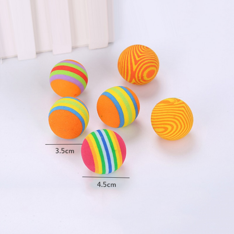 Cat Toys Pet Funny Interactive Training Supplies Multi-style Choose Wire Foam Ball Rat Cage Random Color Cat Dog Pets Toy Cheap