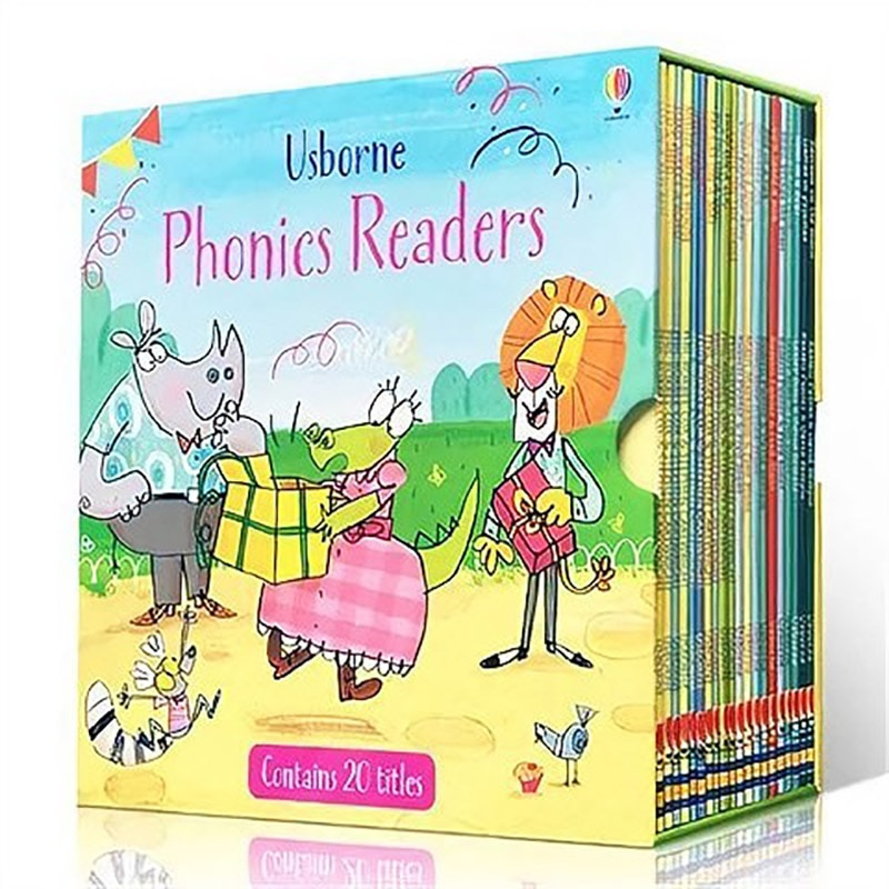 20 books Usborne phonics readers gift box set Famous English Book Children Educational bedtime story picture book 4-8 years