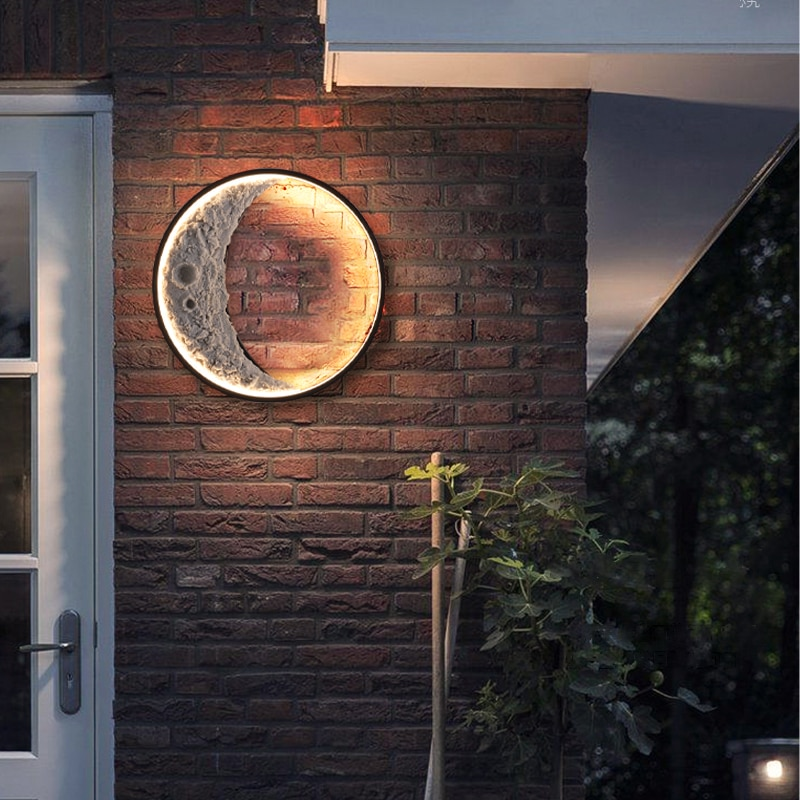 led outdoor waterproof aluminum acrylic wall lamp staircase aisle modern exterior wall lights garden balcony led wall lamp bl299 LED Outdoor waterproof Landscape wall lamp modern Porch exterior Wall light garden lamp villa  IP65 moon Aluminum Wall sconces