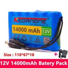 Batteria ricaricabile originale 18650 3S2P 12V 14000mah agli ioni di litio DC 12.6 V 14Ah CCTV, fotocamera, Monitor caricabatterie batteria di ricambio