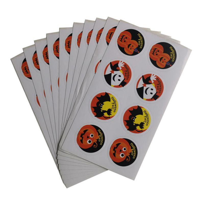 10 pçs aquarela halloween demônio kawaii adesivo decoração caderno planejador stikers