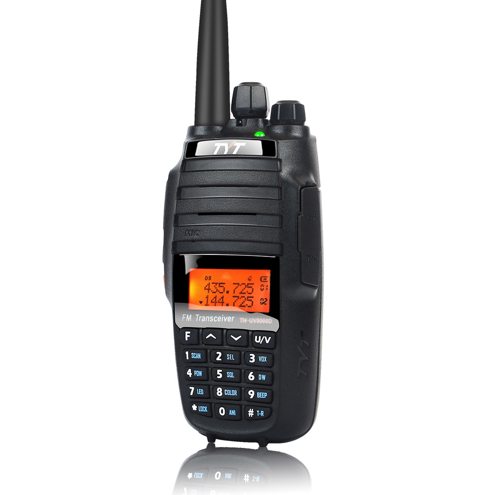 TYT TH-UV8000D 10W walkie talkie dual band 136-174MHz & 400-520MHz ultra-high output power Amateur handheld two way radio 128CH enlarge