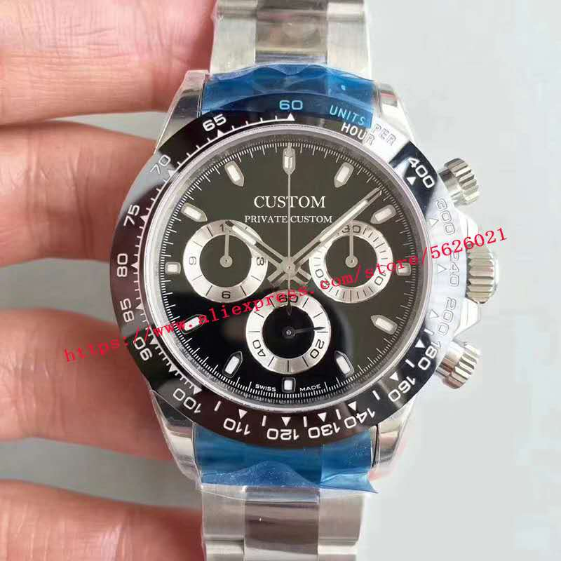Relojes mecánicos automáticos para hombre de 39mm, reloj de pulsera luminoso de acero inoxidable con cristal de zafiro, resistente al agua, sin cronógrafo 062