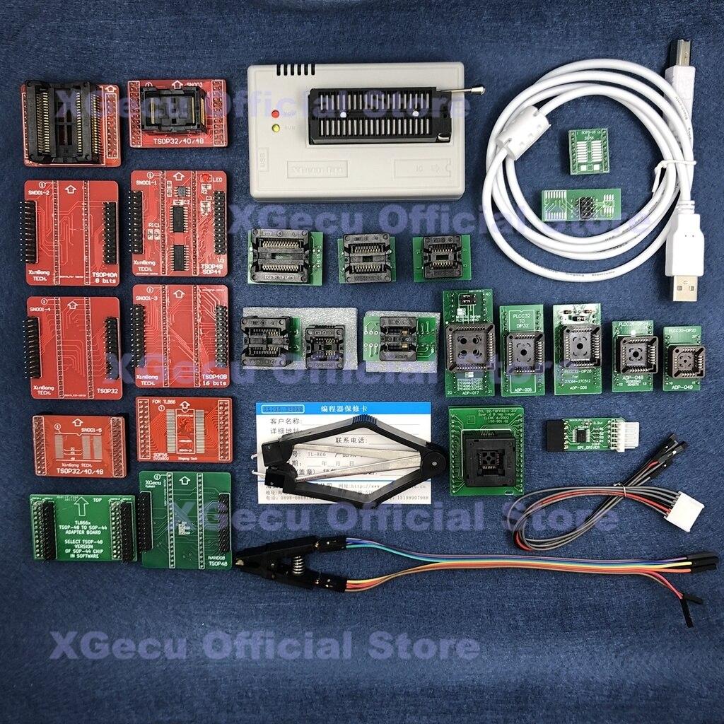 Black socket V10.27 XGecu TL866II Plus USB Programmer support 15000+IC SPI Flash NAND EEPROM MCU replace TL866A TL866CS+26 parts