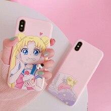 Sailor Moon Telefon Fall Für Samsung A90 A7 S8 A50 S9 EINE 80 hinweis 9 S10 S7 rand 8 a5 a8 a30 s9 plus s10e Zurück Abdeckung Nette Weiche fall