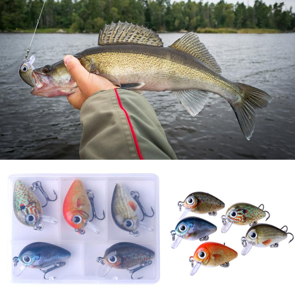 5 шт. кривошипная жесткая бионическая приманка 3D рыбные глаза нарисованные приманки воблеры для плавания рыболовные снасти тонущие рыболов...