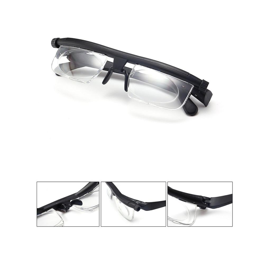 Lente de força ajustável eyewear foco variável distância visão zoom óculos de proteção lupa foco variável óculos