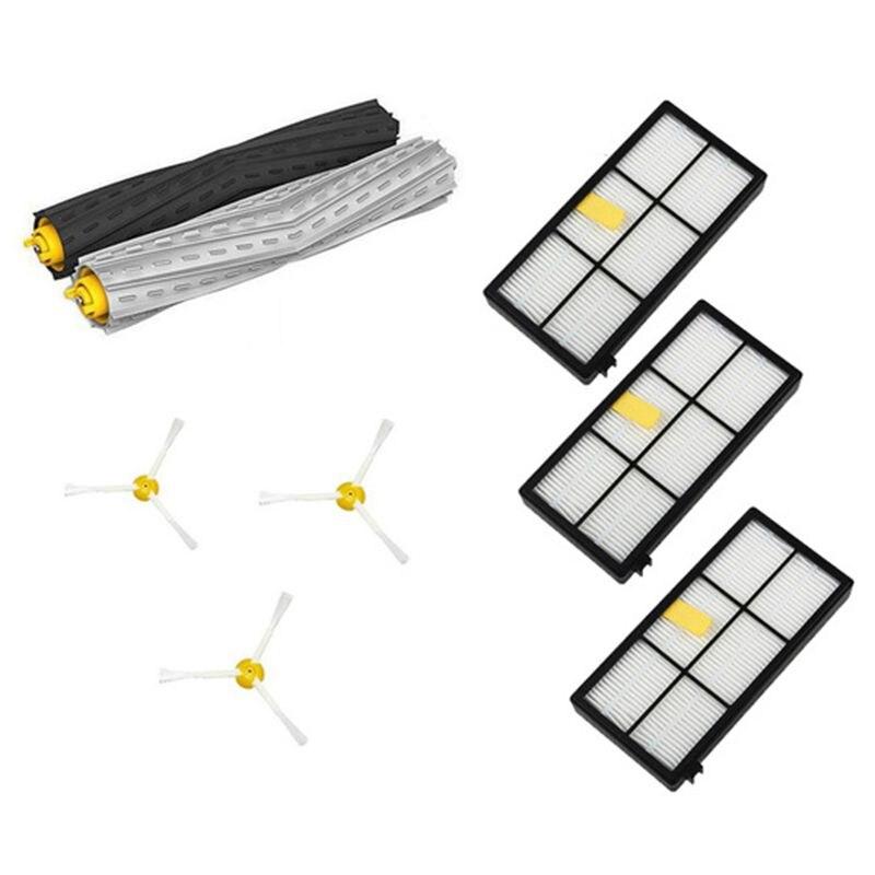 1 set Debris Extractor&Filters &Side Brush Replenishment kit for iRobot Roomba 800 900 series 870 880 980