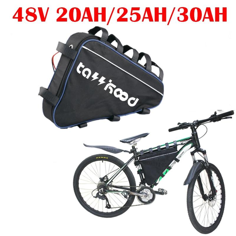 Bafang-batería triangular para bicicleta eléctrica, 48v, 30ah, 20AH, 2000w, 1500W