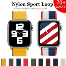 Nylon Strap for Apple watch band 44mm 40mm 42mm 38mm 44 mm sports loop smartwatch wristband belt bra