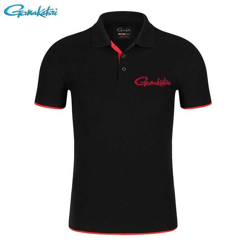 Gamakatsu kleidung Angeln Polo Marke T Quick DryBreathable Outdoor Sport Angeln Kleidung Männer Kurzarm Top Angeln T Hemd