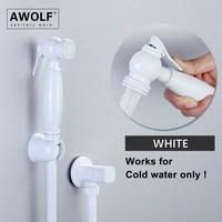 white painting hand held toilet bidet sprayer solid brass shattaf douche kit angle valve bidet faucet washer shower spout ap2288