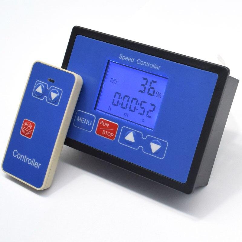 Inteligente LCD pantalla Digital 0 ~ 100% tacómetro ajustable 30A PWM controlador de velocidad del Motor de CC momento control remoto 12V 12V 24V 36V 48V