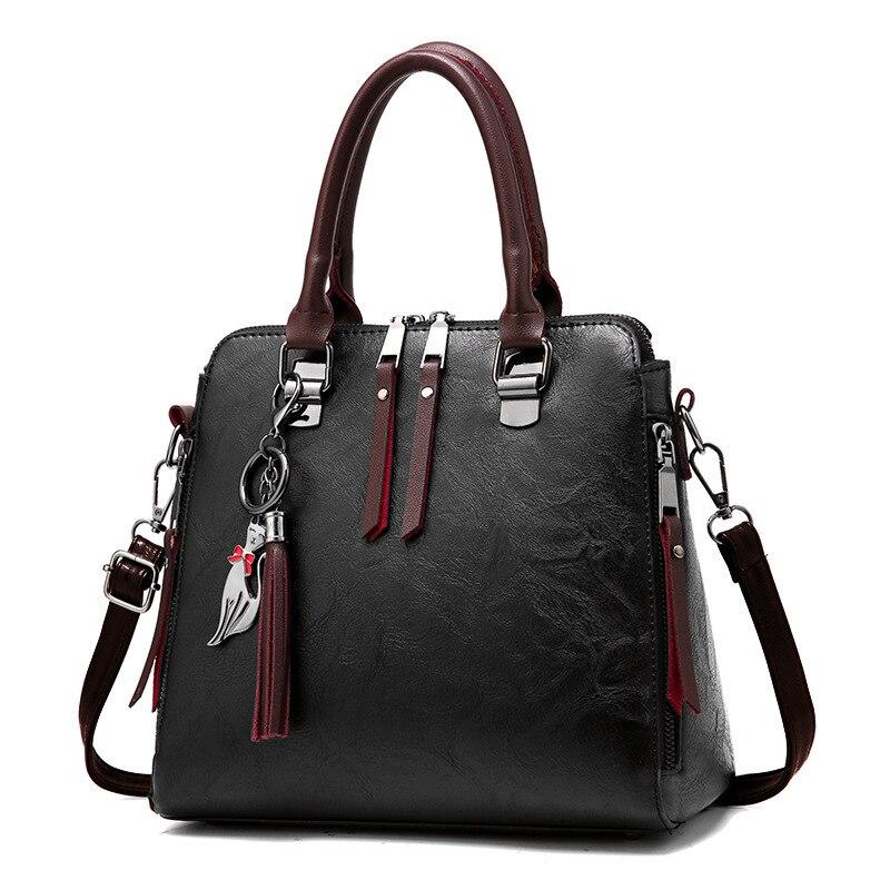 Фото - Женская кожаная сумка, большая сумка-тоут, женская модная сумка через плечо, сумка-мессенджер, сумки через плечо сумка через плечо женская tamaris matilda 2959182 518 светло розовый
