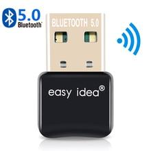 USB Bluetooth 5.0 adaptateur Bluetooth Dongle 5.0 émetteur Bluetooth récepteur Mini Audio adaptateur pour ordinateur PC portable musique