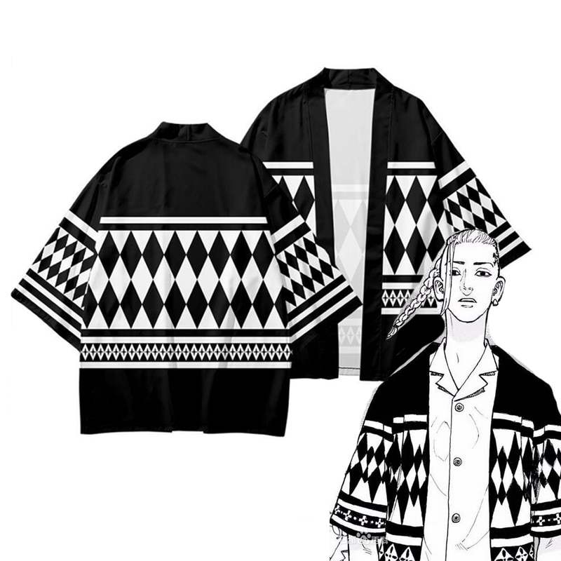 New Tokyo Revengers T-shirt Sano Manjirou Ken Ryuguji Haori Anime t shirt Polyester Summer Short-sleeve kidsTees tops2021