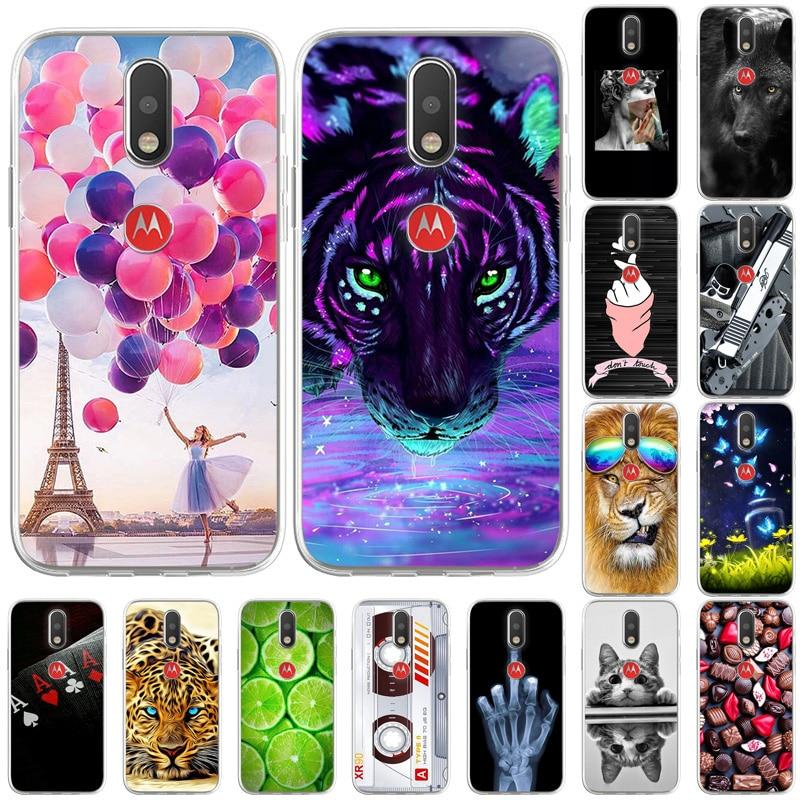 Funda de teléfono para Moto G4, carcasa trasera de silicona suave de TPU para Moto G4 Plus, Fundas para Motorola Moto G 4 G4plus, parachoques
