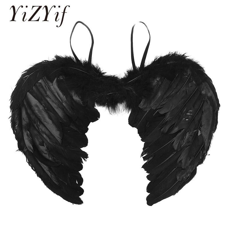 Alas de Ángel con plumas, alas de Ángel, Pluma Real de hadas, fiesta de baile, Cosplay, disfraz, espectáculo, vestido de fantasía para mascarada, navidad