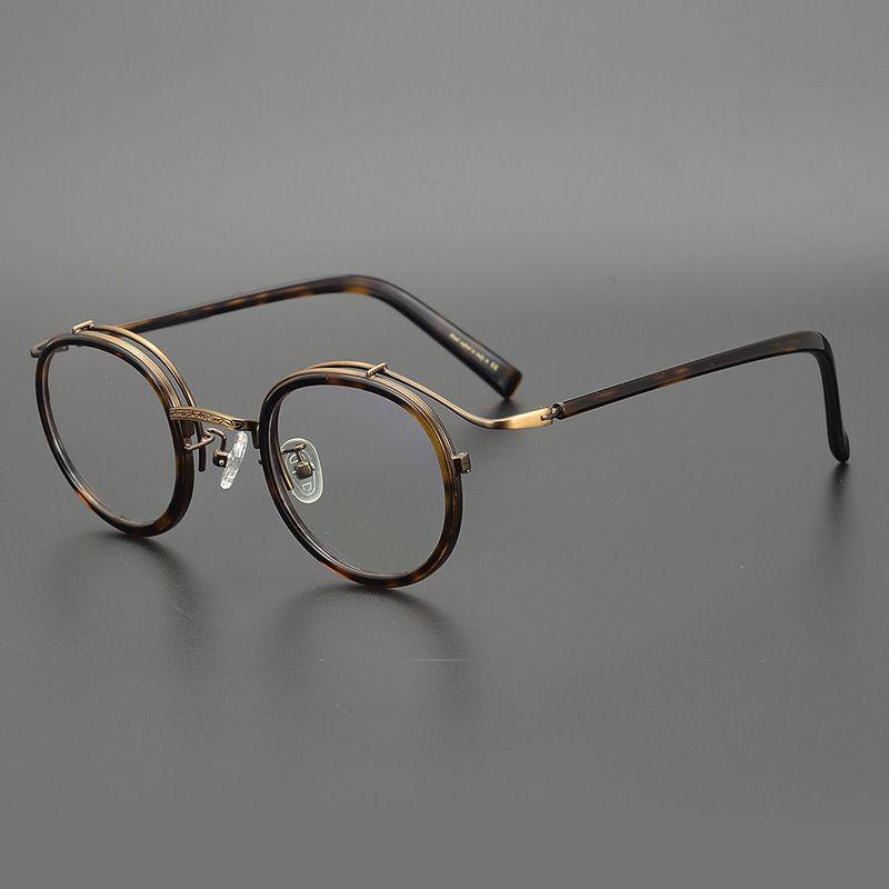 نظارات قراءة دائرية ريترو يابانية دقيقة للرجال والنساء ، إطار نظارة قراءة ، بوصفة طبية كلاسيكية ، جودة عالية