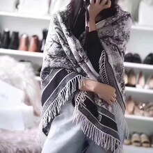 180*70 CM Cashmere long Scarf for women forest shawl 2021 autumn winter brand