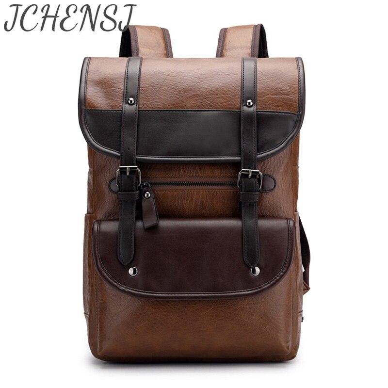 рюкзак мужской Вместительный кожаный рюкзак JCHENSJ для мужчин, рюкзак школьный Многофункциональные ранцы для ноутбука, дизайнерские дорожны...