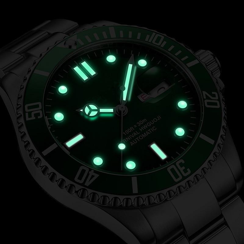 Relogio Masculino CARNIVAL Brand Military Watches Men Luxury Waterproof Fashion Luminous Automatic Mechanical Wrist Watch Clock enlarge