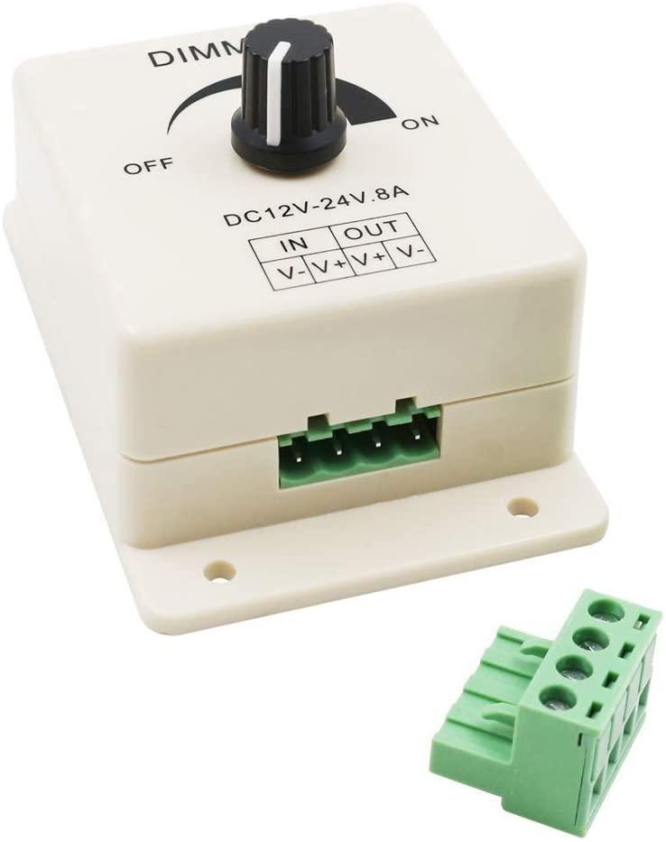 interruptor de regulagem de intensidade led cc 12v 24v 8a brilho ajustavel lampada