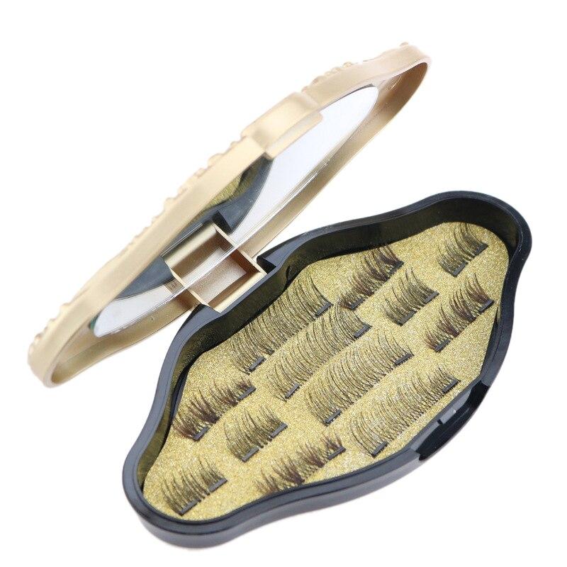 ABVP 3D maquillaje de visón pestañas magnéticas imán pestañas falsas doble Triple imán pestañas ultrafinas reutilizables maquillaje falso eyela