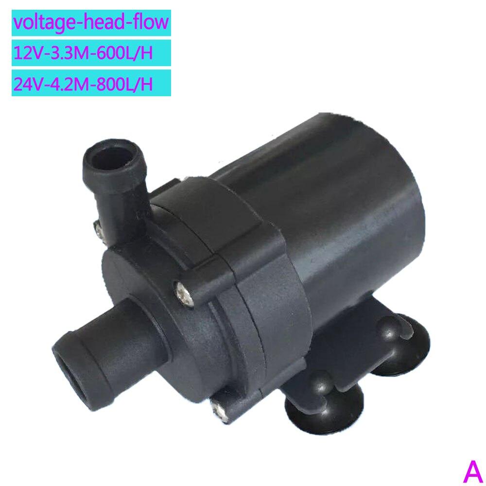 Envío Gratis 600L/H 800L/H calentador de agua eléctrico 12V 24V CC sin escobillas bomba de agua 3M a 4,2 M bomba sumergible de tierra anfibia