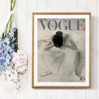 Affiche de danse en Vogue  impression dart mural de Ballet  photographie de mode  toile de peinture  cadeau pour sa chambre de filles  decor mural de maison