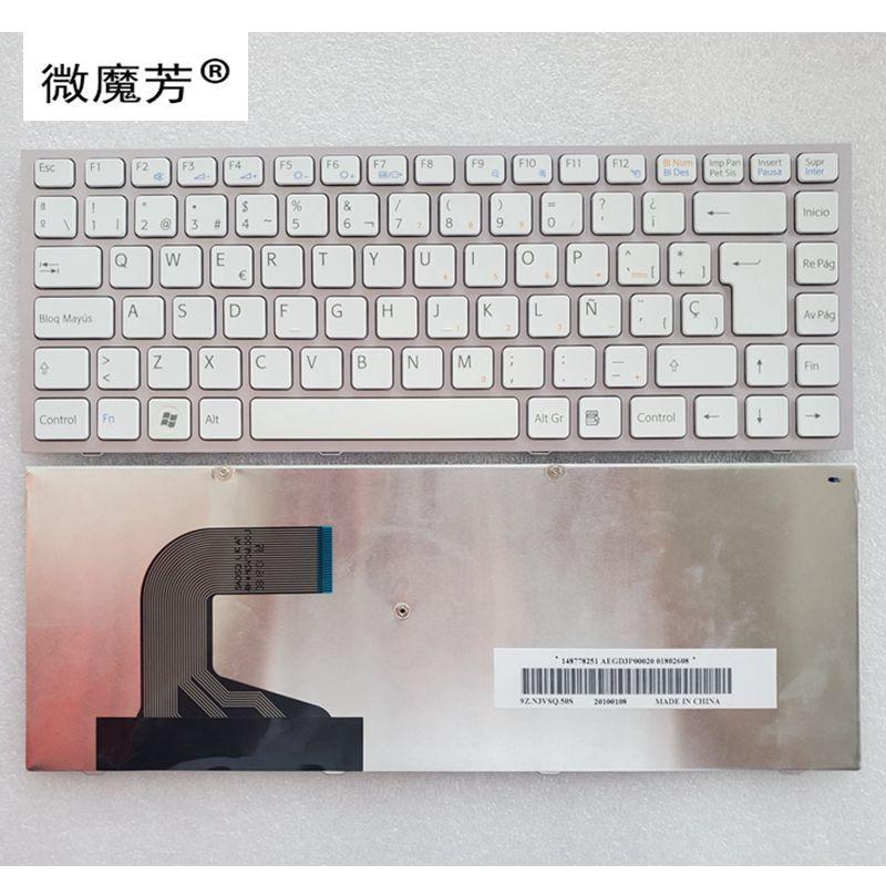 الإسبانية SP لوحة المفاتيح لابتوب سوني VPC-S VPCS VPC-S11 VPC-S12 VPC-S13 PCG-51113M 51112 PCG-51211L PCG-51511L سلسلة