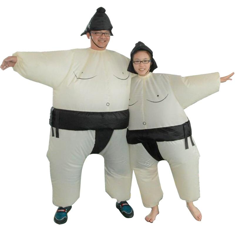 Halloween divertido rendimiento lucha Accesorios Hombre Gordo gracioso muñeca inflable de Sumo inflable halloween fiesta de despedida de soltera