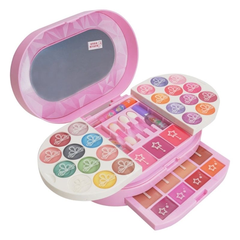 Kids Makeup Non-toxic Toy Set Pretend Play Eco-friendly Make up Beauty Cosmetic