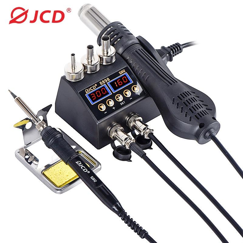 وحدة لحام ذات شاشة عرض رقمية LCD استطاعة 750 واط 2 في 1, محطة إعادة عمل لحام للهاتف الخلوي BGA SMD PCB IC أدوات إصلاح لحام 8898