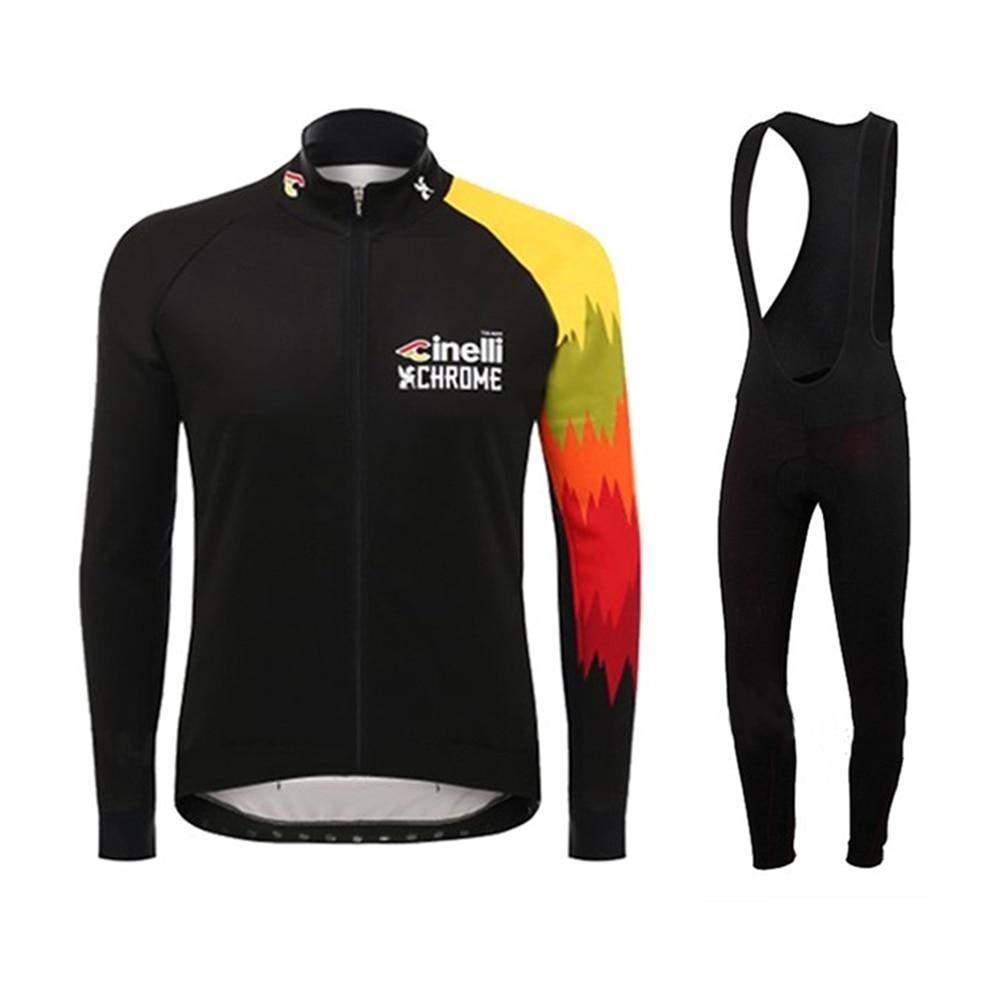 Cinelli-jersey de ciclismo profesional para hombre, ropa de manga larga para invierno,...