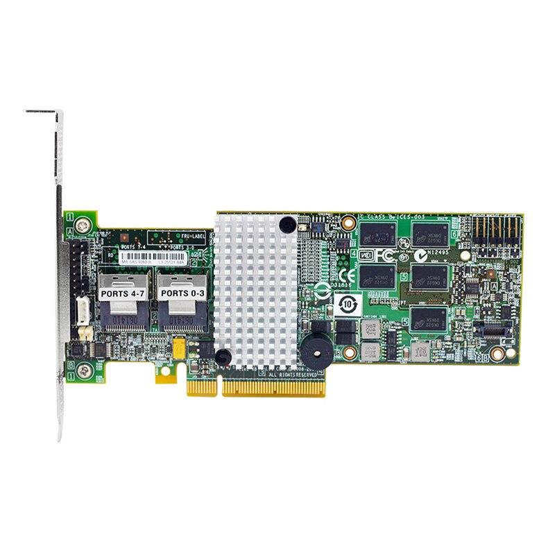 LSI00198 9260-8i SGL 8-Port 6 جيجابايت/ثانية SATA/SAS ث/512 م RAID 0,1,5,6,10,50,60 PCI-Express RAID Card - new,3 سنوات الضمان