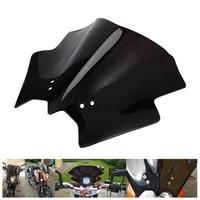 1 pcs black abs motorcycle front windshield windscreen for ktm duke 125 200 390 motorbike accessories
