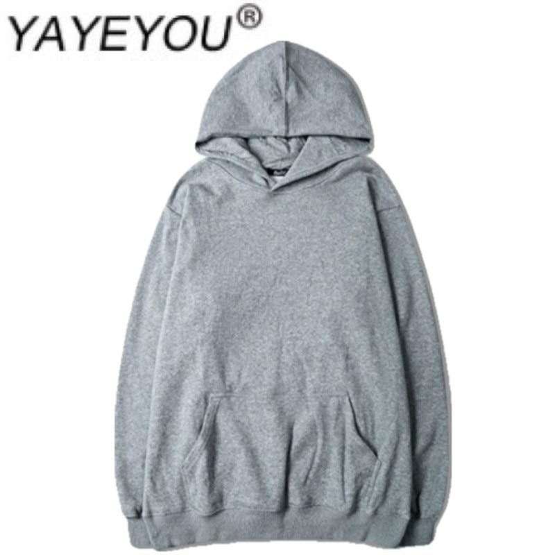 YAYEYOU Spring ins harajuku BF loose hooded hoodie student long sleeve false two coats slim solid color popular western leisure