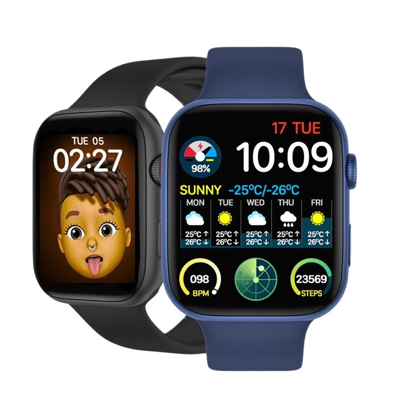 Get 5pcs IWO FK99 Smart Watch 2021 Men Women 44MM 1.75 Inch Bluetooth Call Heart Rate Monitor FK88 Upgrade Smartwatch PK IWO W56