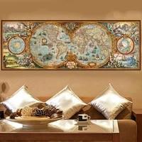 5d diy diamond painting cross stitch ancient map diamond embroidery mosaic full square rhinestones decor as60