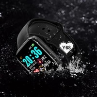 hot y68 smart watch men women fitness tracker blood pressure blue tooth heart rate monitorhealth bracelet watch for ios android